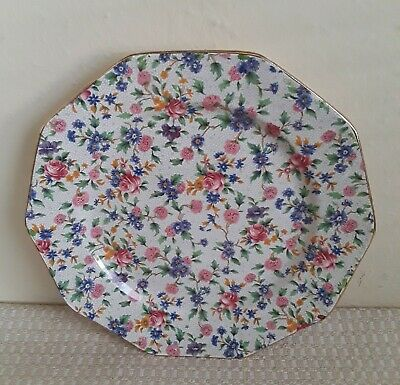 $ CDN26.25 • Buy Antique Royal Winton Grimwades England Old Cottage Chintz Dinner Plate 9