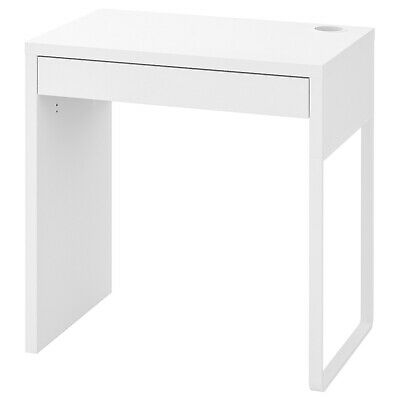 IKEA NEW MICKE DESK Drawer Computer Desk Home Office Workstation White 73x50cm • 63.99£