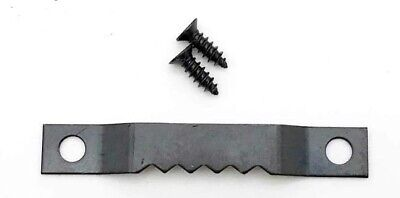Saw Tooth Hangers 42mm Black Finish Canvas Picture Frame Strong Hanging +Screws • 0.99£