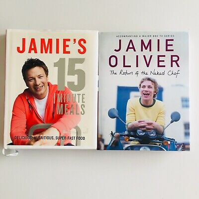 AU35 • Buy Jamie Oliver 2 Cookbooks Jamie's 15 Minute Meals & The Return Of The Naked Chef
