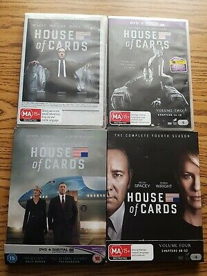 AU29 • Buy House Of Cards : Complete Season 1-4 Kevin Spacey, Robin Wright Like New