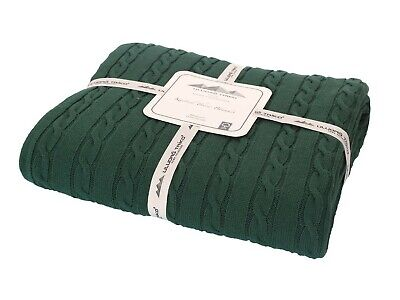 £34.99 • Buy Luxury Knitted Throw Sofa & Bed Blanket 100% Cotton