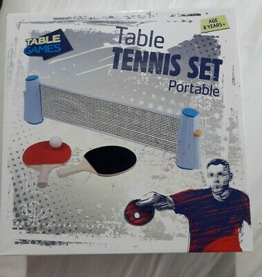 Table Games Table Tennis Set Portable • 3£