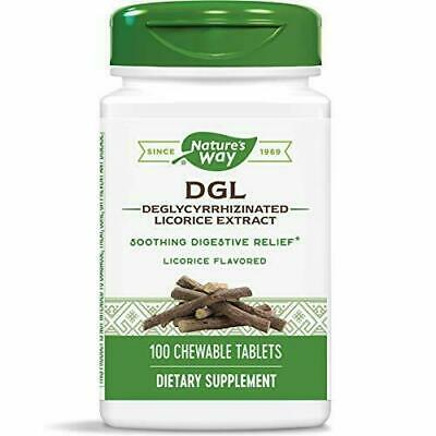 DGL Deglycyrrhizinated  Licorice Extract  100 Chews By Nature's Way Exp 3/23 • 11.99£