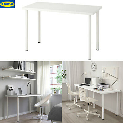 IKEA LINNMON Computer Desk Simple Design PC Laptop Table Home White 100x60cm • 36.95£