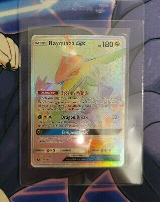 $ CDN290 • Buy Rayquaza GX - 177/168 - Rainbow Rare NM