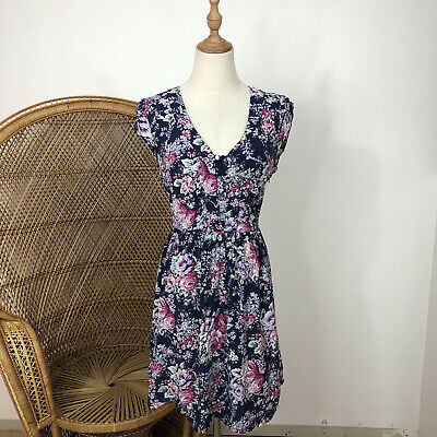 AU29 • Buy Forever New Fit & Flare Dress Size 10 S/M Floral Flower Corporate Career Visocse