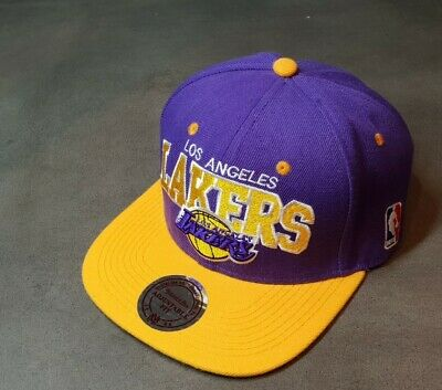 🏀LA LAKERS HAT🏀🔥Mitchell And Ness🔥NBA Snapback CAP Los Angeles Lakers • 12.18£