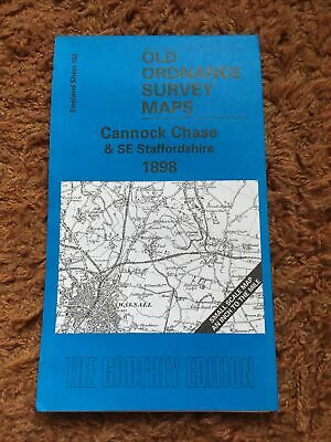 £4 • Buy Cannock Chase And SE Staffordshire 1898: One Inch Map 154 Old Ordnance Survey Of
