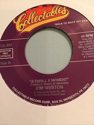 £22 • Buy Northern Soul Kim Weston A Thrill A Monent/ Hold Me In Your Arms For Just A Litt