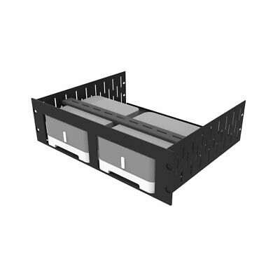 3U Vented Rack Shelf & Magnetic Faceplate For 2 X Sonos ZP120 (Connect:Amp) R149 • 67.12£