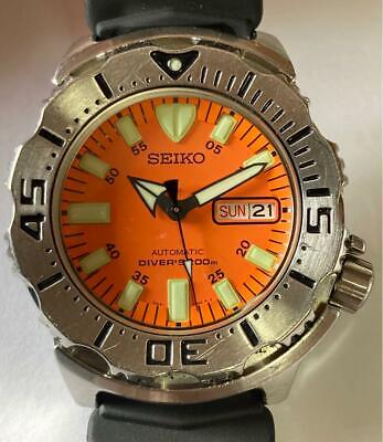 $ CDN579.94 • Buy Seiko 7S26-0350 Diver Scuba Stainless Steel Orange Monster Automatic Mens Watch