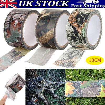 £6.91 • Buy 10m Waterproof Self Adhesive Camo Gun Hunt Camping Camouflage Stealth Tape Wrap