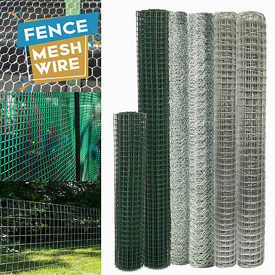 Galvanized Chicken Wire Rabbit Aviary Netting Mesh Garden Poultry Fencing Panel • 18.99£