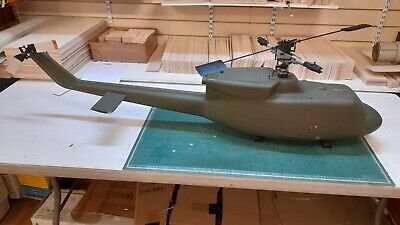 £499 • Buy Vintage-Collectors Graupner Bell 212 Helicopter Built But Not Finished Complete.
