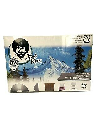 Bob Ross 16 Piece Master Paint Set And Instruction DVD Brushes Student Painting • 75.10£