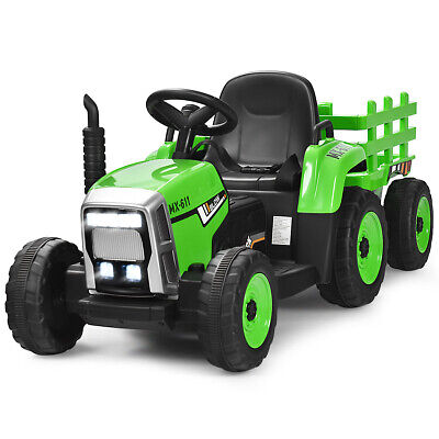 £165.99 • Buy 12V Kids Ride On Tractor W/ Trailer Electric 3-Gear-Shift Ground Loader Toy Car