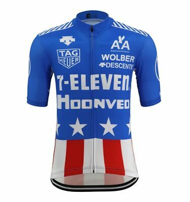 AU28.04 • Buy New Men Cycling Jerseys L Replica Retro 7-Eleven USA Bike Clothing Road Bicycle