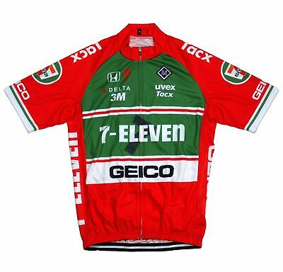 AU28.04 • Buy New Men Cycling Jerseys XL Replica 7-Eleven Geico Bike Clothing Road Bicycle