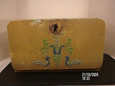 $17 • Buy Vintage Beauty Box Tin Bread Box Solid But Looks Rough