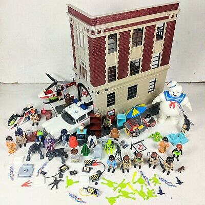Playmobil Ghostbusters Bundle Firehouse, Stay Puft, Figures, Slimer. Ecto 1  • 149.95£
