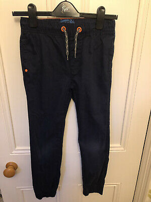 Debenhams Blue Zoo Boys Cuffed Trousers Drawstring Waist Age 10 Yrs Navy • 3.30£