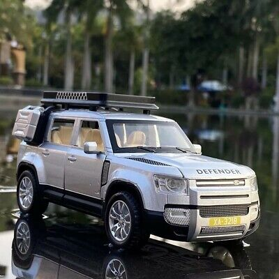 SILVER NEW Land Rover Defender Car Model Diecast Toy Vehicle  • 19.99£