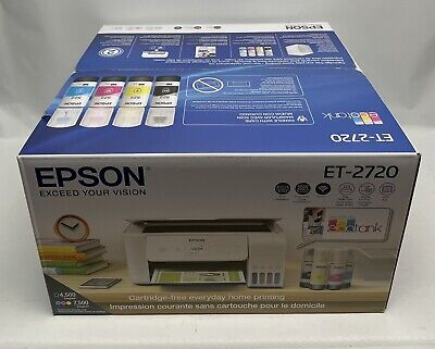 View Details Brand New Epson EcoTank ET-2720 All-in-One Wireless SuperTank Color Printer • 264.99$
