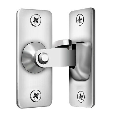 £5.69 • Buy 90 Degree Stainless Steel Latch Safety Right Angle Sliding Door Lock (S)