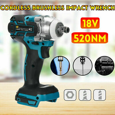 18V 1/2  520Nm Brushless Replace Impact Wrench Body For Makita Battery DTW285Z • 21.99£