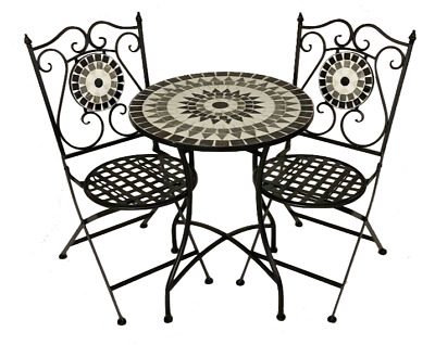 AU379.95 • Buy 3 Piece Mosaic Garden Bistro Setting Patio Alfresco Outdoor Furniture