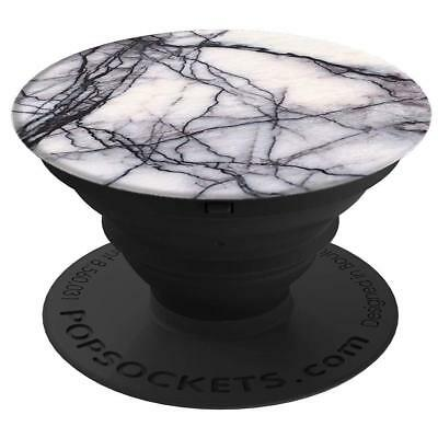 AU12.44 • Buy Genuine Popsockets White Marble Effect Print Phone Grip & Stand. BARGAIN.