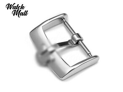 Fits OMEGA Buckle Clasp For Watch Leather Strap Band Silver  • 15.49£