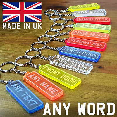 PERSONALISED Any NAME Any WORD Keyring KEYCHAIN FROZEN SCHOOL UK NUMBER WOW  • 1.99£