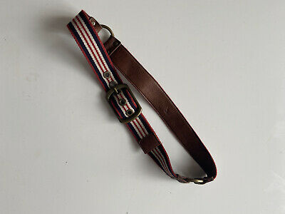 Burberry Striped Leather And Fabric Belt • 30£