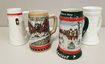 $ CDN36.43 • Buy Vintage BUDWEISER Collector's Series Clydesdale STEIN LOT - 4 TOTAL