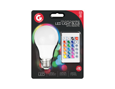 £6.49 • Buy Remote Control Colour Changing LED Bulb ES/E27 - Tech Technology Gift Fun Toy