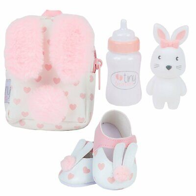 Tiny Treasures First Day At Nursery Set - Pink Doll Accessories Gift Toy NEW • 20.99£