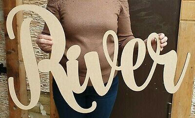 £10.99 • Buy Personalised Wooden Name Large Wall Sign Room Decor Nursery Plaque Word