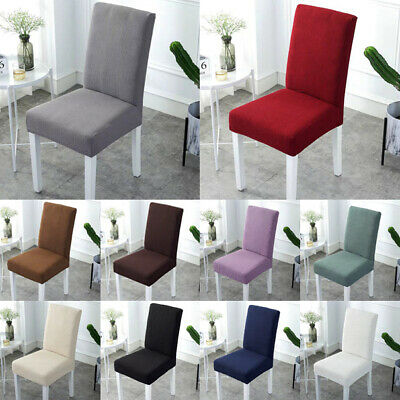 AU25.99 • Buy Stretch Dining Chair Cover Slipcover Wedding Solid 1/6/8Pcs Removable