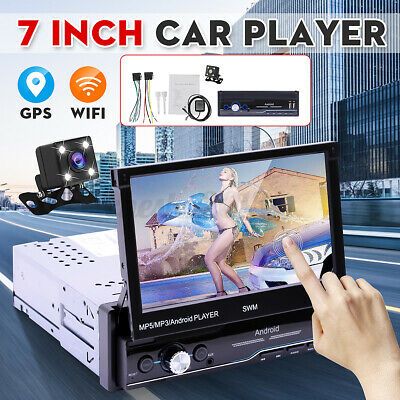 AU162.99 • Buy 7'' 1 DIN Android 8.1 Car MP5 Stereo Player Bluetooth WiFi GPS FM USB W/ Camera