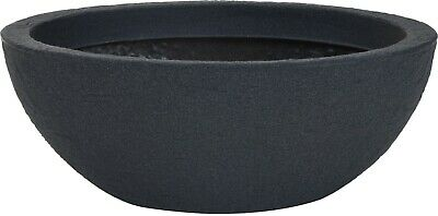 £24.99 • Buy Very Large Oval Shaped Deep Planter Dark Grey Stone Effect Plant Pot Planters