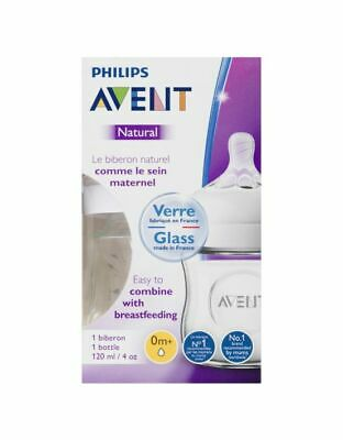 AU22.91 • Buy Original Philips Avent Comfortable Natural Breast-Shaped Bottle Glass 0m+ 120ml