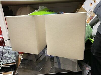 Tablle Lamps - Pair Cream And Chrome • 7.50£