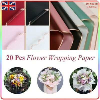 £7.99 • Buy 20pcs Flower Packaging Paper Frosted Florist Handmade Wrapping Bouquet DIY Gift