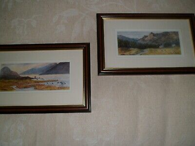 Two Accomplished Watercolours,lake District By John Williamson Matching Frames8  • 10£