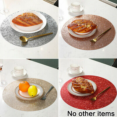 AU32.89 • Buy Set Of 4 PVC Place Mats And Coasters Dining Table Placemats Non-Slip Washable