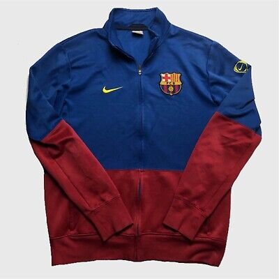 Mens Nike Track Top Large FC Barcelona Red/Blue Polyester Full Zip • 14.99£