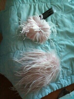 Pink Ostrich Feather Fascinator And Purse • 25£