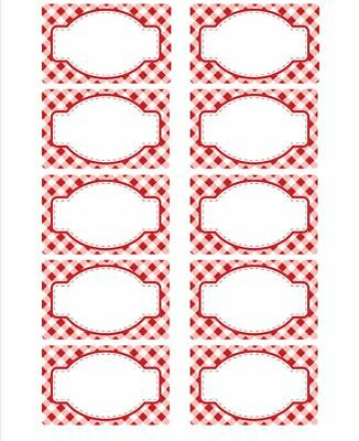 Jam Jar Labels Sheet Of 10 - White Self Adhesive Easy Stick • 4.99£